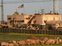A picture taken on April 2, 2018 shows a general view of a US military base in the al-Asaliyah village, between the city of Aleppo and the northern town of Manbij. The Syrian Observatory for Human Rights, a Britain-based monitor with sources on the ground, says around 350 members of the US-led coalition -- mostly American troops -- are stationed around Manbij. / AFP PHOTO / Delil SOULEIMAN (Photo credit should read DELIL SOULEIMAN/AFP/Getty Images)