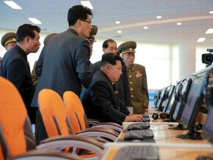 This undated picture released from North Korea's official Korean Central News Agency (KCNA) on October 29, 2015 shows North Korean leader Kim Jong-Un (2nd R) inspecting the Sci-Tech Complex at the Ssuk Islet in Pyongyang. AFP PHOTO / KCNA via KNS REPUBLIC OF KOREA OUT THIS PICTURE WAS MADE AVAILABLE …
