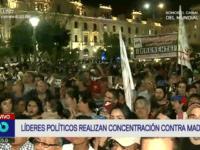 Venezolanos en el Perú protestan contra Nicolás Maduro en la Plaza San Martín