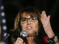 Former vice presidential candidate Sarah Palin speaks at a rally Thursday, Sept. 21, 2017, in Montgomery, Ala. Palin is in Montgomery to support Judge Roy Moore for the U.S. Senate candidacy. (AP Photo/Brynn Anderson)