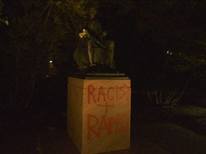 Thomas Jefferson Statue at UVA Vandalized with 'Racist + Rapist' Slogan