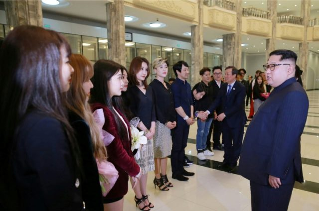 "North Korean leader Kim Jong Un smiled, clapped and said he was ""deeply moved"" by a rare performance by South Korean K-pop stars in Pyongyang"