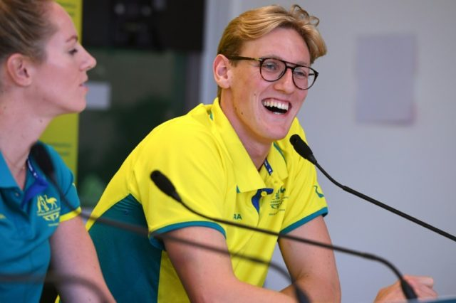Australia's swimmer Mack Horton (R), who bagged 4x200m freestyle gold and 1,500m freestyle silver at the 2014 Commonwealth Games, said he was back to full fitness after suffering an allergic reaction to a bee sting last week