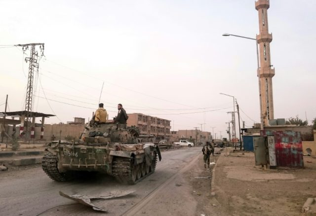 The Syrian border town of Albu Kamal was a long-time stronghold of IS jihadists but was during a Russian-backed offensive in 2017