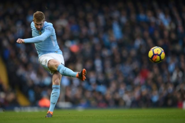 Kevin De Bruyne hopes City clinch the title by beating arch-rivals United next week