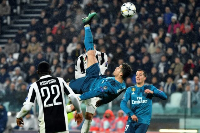 Cristiano Ronaldo's second goal came courtesy of a magnificent overhead kick