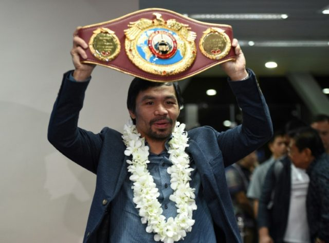 Manny Pacquiao has not fought since he was defeated on points by Australia's Jeff Horn last July, a loss that cost the Philippine icon his World Boxing Organization crown