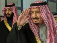 A handout picture provided by the Saudi Royal Palace on December 13, 2017, shows Saudi King Salman bin Abdulaziz (R) and Saudi Crown Prince Mohammed bin Salman in Riyadh