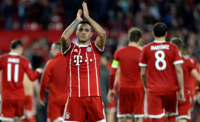 Thiago Alcantara's deflected header secured victory for Bayern in Seville