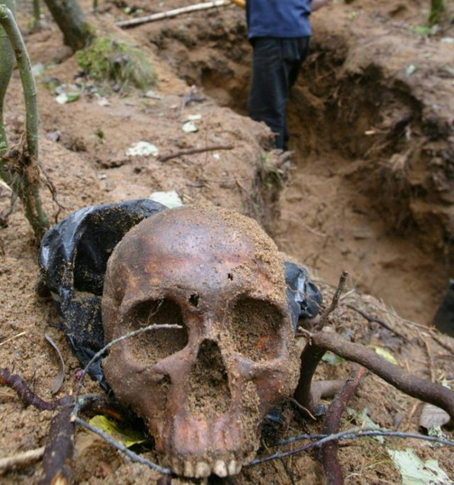 Russian historian Yury Dmitriyev spent decades locating and exhuming mass graves of those killed in summary executions during Stalin's rule