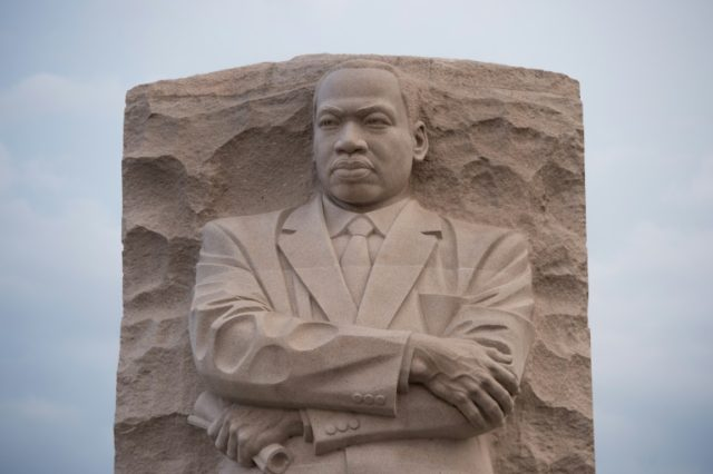 The Martin Luther King Jr. Memorial in Washington, on the 50th anniversary of the civil rights leader's assassination