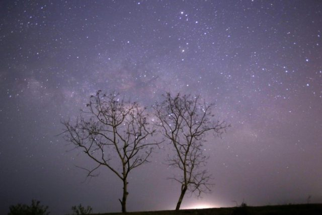 In total, the Milky Way is about 100,000 light years wide