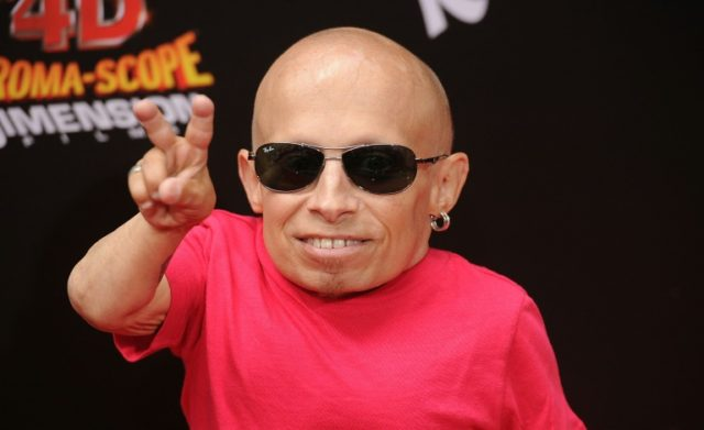 Verne Troyer's representative did not say why the actor had been admitted to hospital