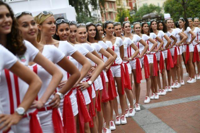 Girl power: Grid girls at the Monaco Grand Prix in 2015
