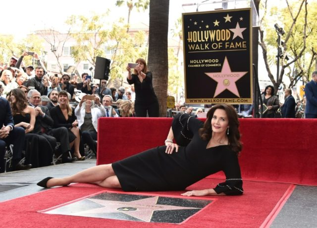 Actress Lynda Carter is honored with the 2,632nd star on the Hollywood Walk of Fame