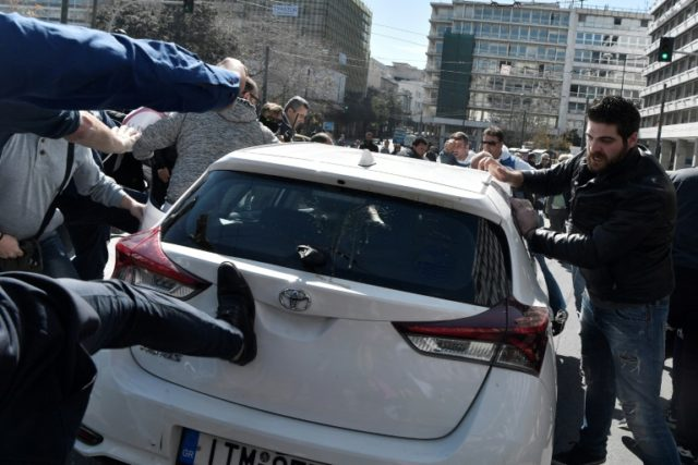 Like in many other cities, Uber's presence has prompted protest in Athens