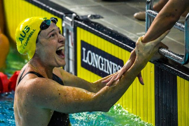 Cate Campbell sealed Australia's 4x100m freestyle relay world record with a flying final leg.
