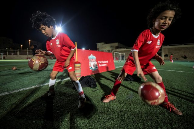 Boys at the Liverpool International Academy in the Egyptian city of Madinaty dream of emulating the success of the club's high-scoring Mohamed Salah