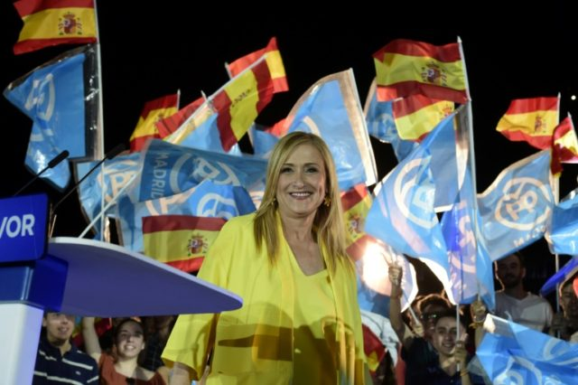 Cristina Cifuentes of the Spain's ruling Popular Party is suspected of doctoring documents to gain her masters degree, an allegation she denies
