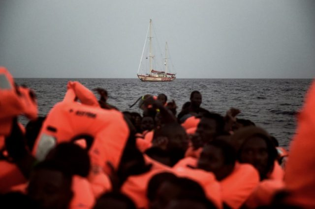 Thousands of migrants have made the dangerous sea crossing from Turkey to the island of Lesbos