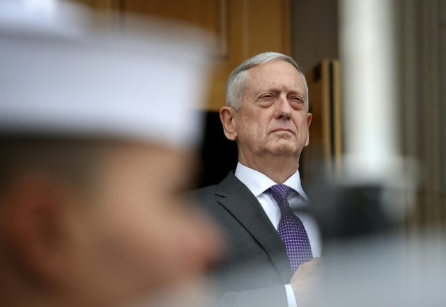 Secretary of Defense James Mattis at a Pentagon ceremony