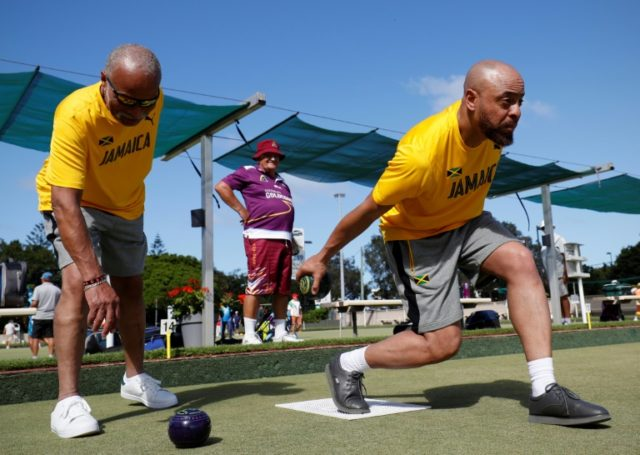 Andrew Newell (R) and Melvyn Edwards have formed Jamaica's first lawn bowls team at the Commonwealth Games.