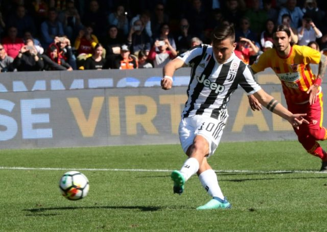 Paulo Dybala scored two penalties in his hat-trick as Juventus moved a step closer to a seventh straight title