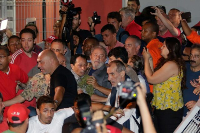 Brazilian ex-president Luiz Inacio Lula da Silva has surrendered to police to begin a 12-year prison sentence for corruption