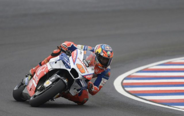 Pole man: Australia's Jack Miller on his way to pole position in Argentina