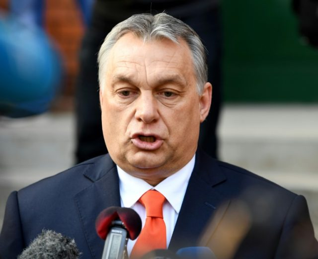 "Hungarian Prime Minister Viktor Orban calls it a ""historic victory"" in Sunday's parlimentary election which will give him a third consecutive term in office"