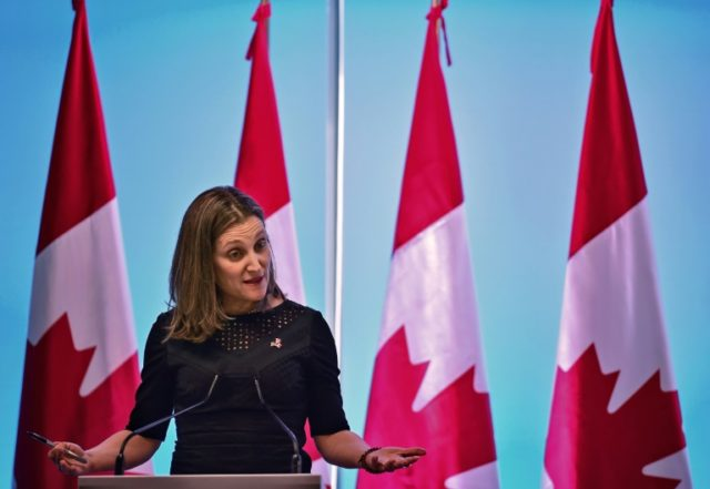 Canadian Foreign Minister Chrystia Freeland says NAFTA talks are making progress