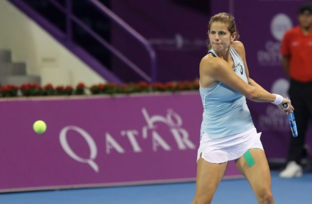German fifth seed Julia Goerges progressed after completing a straight-sets win over Latvia's Anastasija Sevastova
