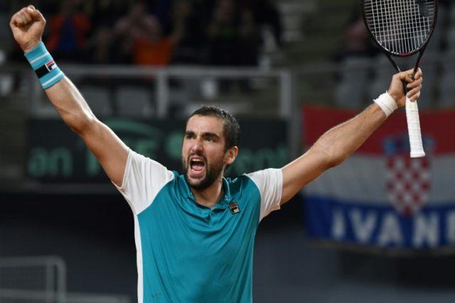 Marin Cilic thrashed Mikhail Kukushkin to send Croatia into the Davis Cup semi-finals