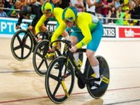 Stephanie Morton (front) won the women's keirin as Australia took three golds on the final night.