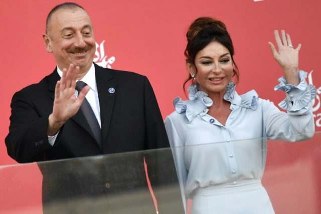 Azerbaijan's President Ilham Aliyev, pictured with First Lady and First Vice President Mehriban Aliyeva, is certain to secure a fourth term in office in Wednesday's vote