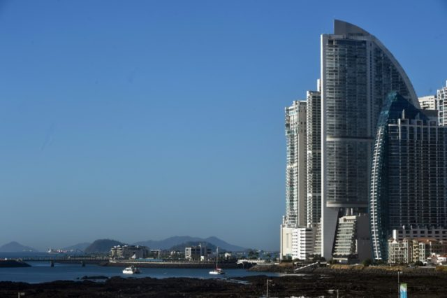 The sail-shaped hotel used to be called the Trump Ocean Club International Hotel but is now called The Bahia Grand