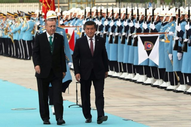 """I believe my dear brother's visit will contribute to opening a new page in Turkish-Kyrgyz relations,"" Erdogan said"