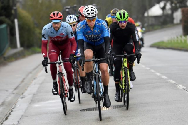 The cycling word is mourning 23-year-old Belgian rider Michael Goolaerts, shown here during the Tour of Flanders race, who died after suffering heart failure in the Paris-Roubaix race