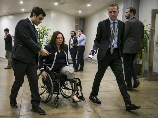 Tammy Duckworth has become the first serving member of the Senate to give birth