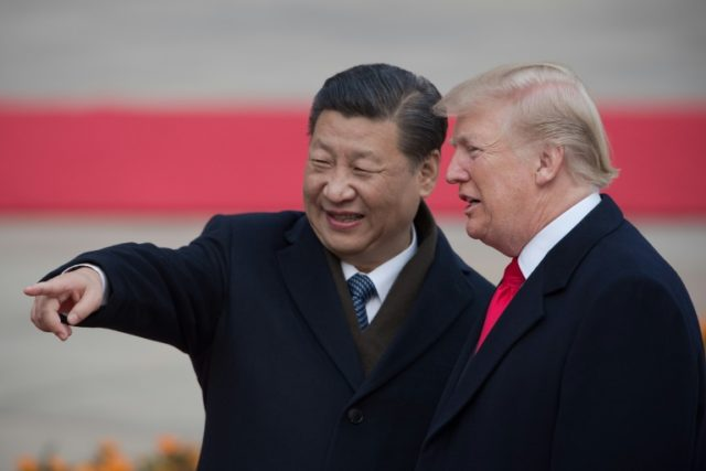 "US President Donald Trump (R) said that he and China's President Xi Jinping ""will always be friends, no matter what happens with our dispute on trade"""