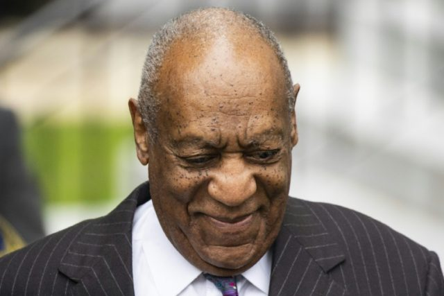 "Comedian Bill Cosby arrives for the first day of his second trial for sexual assault at the Montgomery County Courthouse in Norristown, Pennsylvania -- the case has tarnished the legacy of an actor once adored by millions as ""America's Dad"""