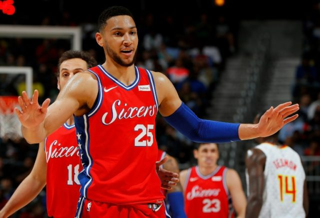 Ben Simmons, who had been struggling with a stomach bug, added 14 points with 10 assists as the Sixers moved to within one win of locking up third spot with a 121-113 defeat of the Atlanta Hawks