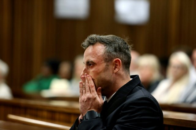 Oscar Pistorius as originally convicted of culpable homicide -- the equivalent of manslaughter -- in 2014, but his conviction was upgraded to murder on appeal