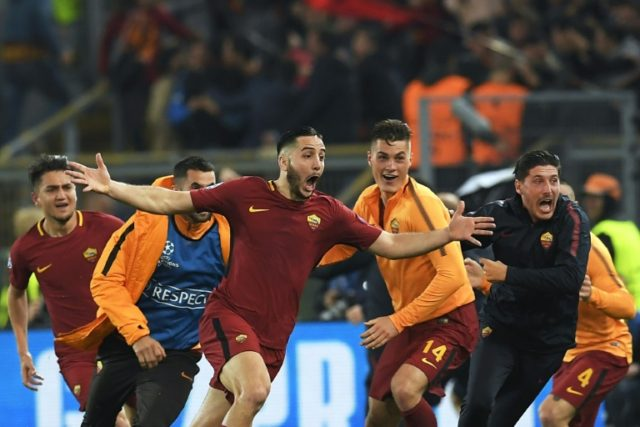 Greek defender Kostas Manolas scored the decisive goal that earned Roma one of the most unlikely Champions League comebacks in history