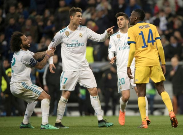 Ronaldo confronts Juve midfielder Blaise Matuidi as Real Madrid claimed a dramatic aggregate victory in their quarter-final tie