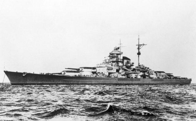 """Churchill described the German battleship Tirpitz as """"the beast"""""""