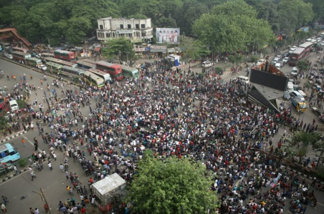 Bangladesh university students have held protests this week against a policy that sets aside government jobs for special groups