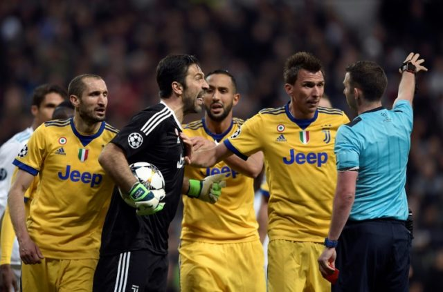 Gianluigi Buffon raged at English referee Michael Oliver and was sent off after he awarded the late penalty that out Real Madrid into the semi-finals of the Champions League