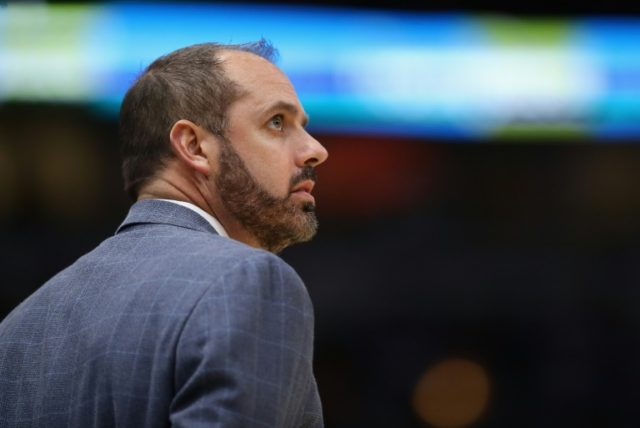 Frank Vogel, pictured in 2017, ended his reign at the Orlando Magic with a 54-110 record