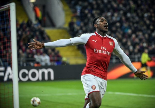 Danny Welbeck's goal eased Arsenal nerves and ended CSKA Moscow's hopes in their Europa League quarter-final